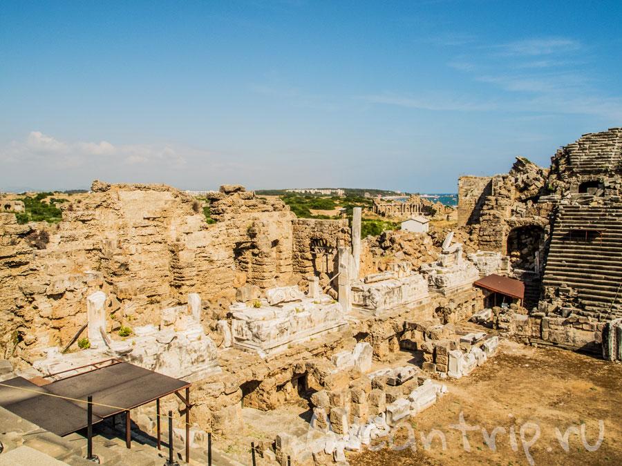 вид с античного театра Сиде