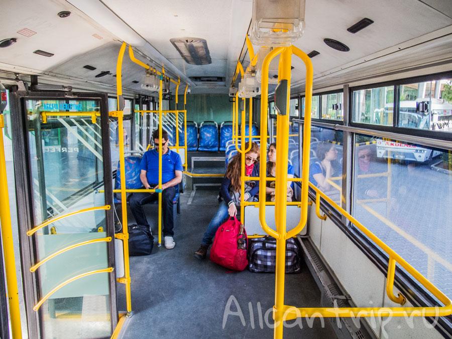 городской автобус от автовокзала анталии до центра