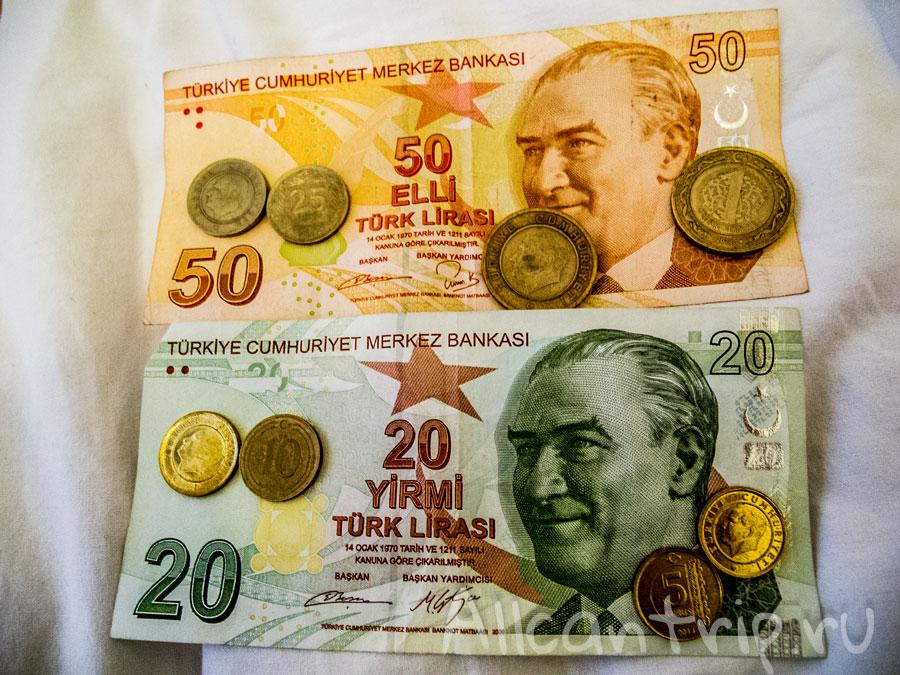 Сколько денег брать в Турцию