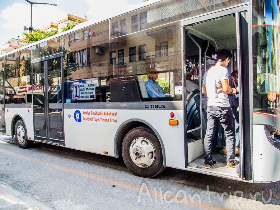 городской автобус в Алании