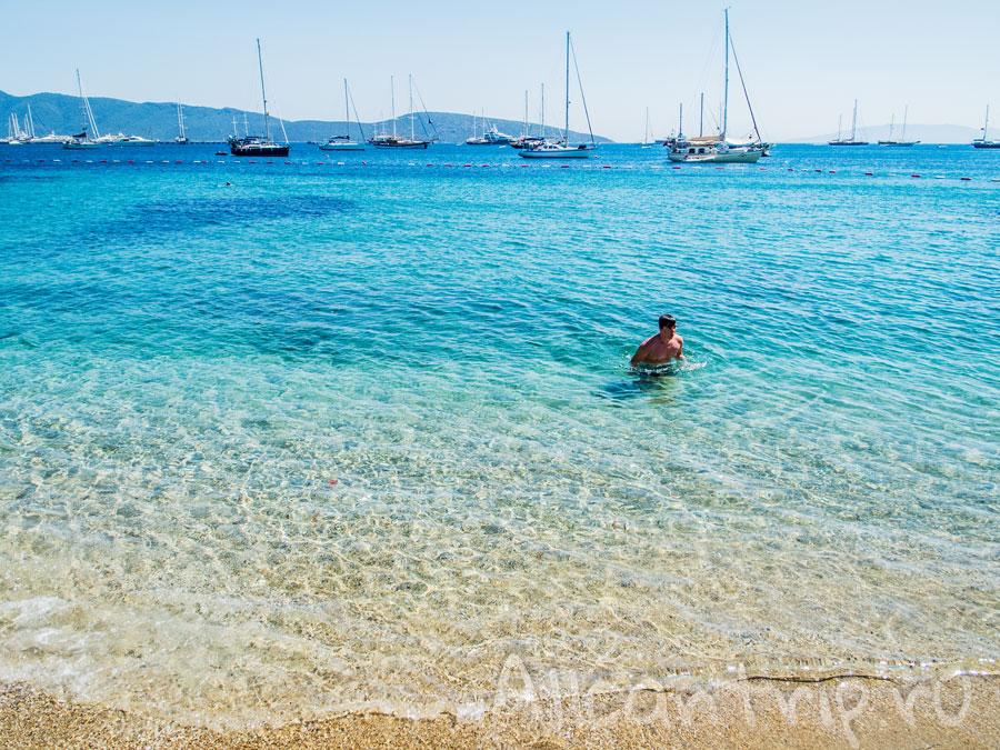 песчаный пляж бодрума