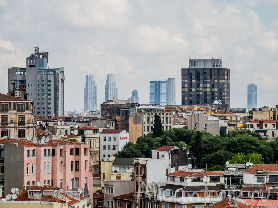 виды с галатской башни на Стамбул