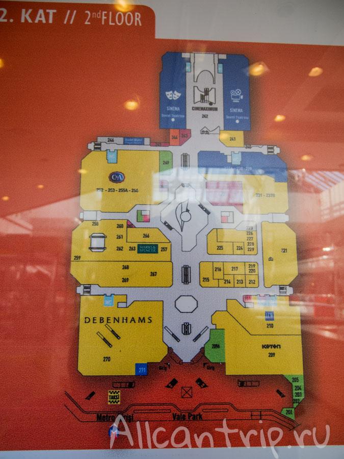 схема ТЦ Джевахир в Стамбуле