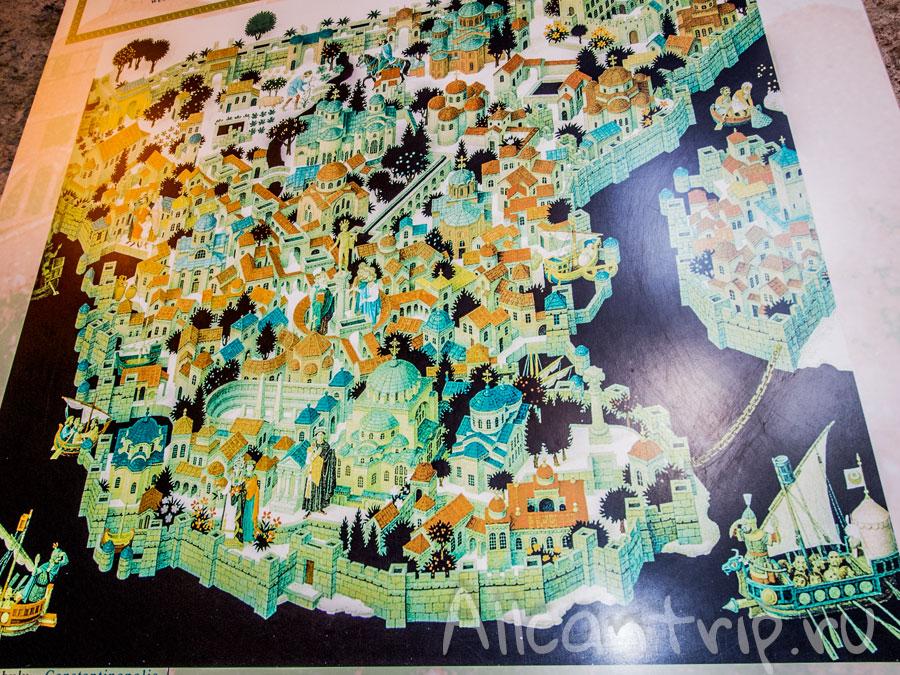 древний Константинополь карта