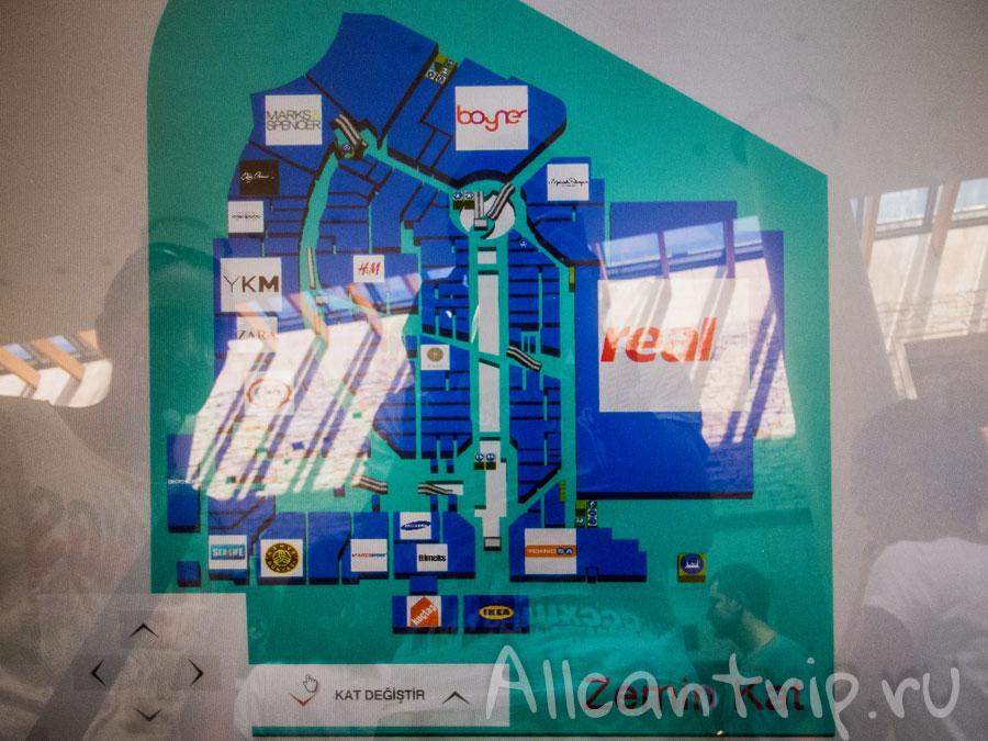 Схема ТЦ Forum Istanbul