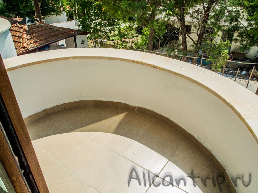 балкон в отеле Памуккале