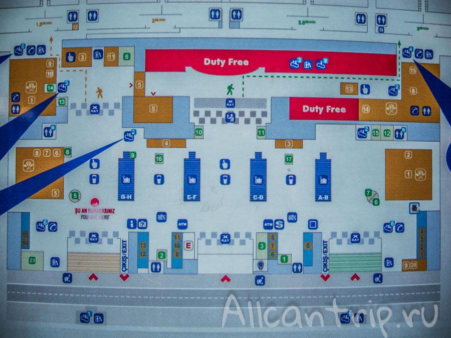 Сабиха гекчен аэропорт схема