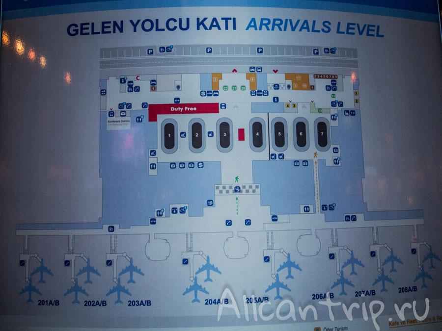 схема аэропорта Сабихи Гекчен