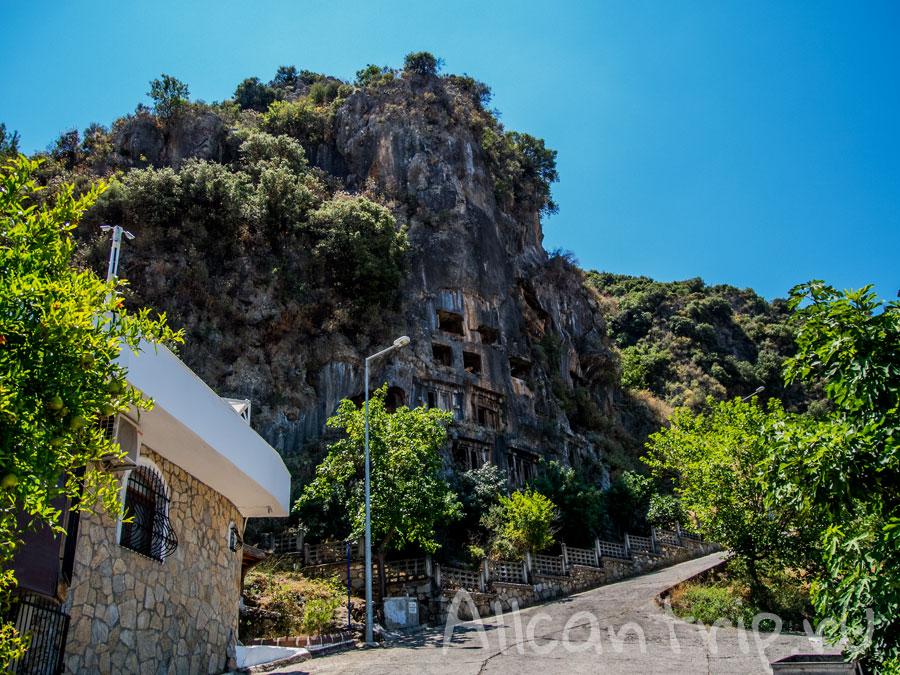 ликийские гробницы в фетхие фото