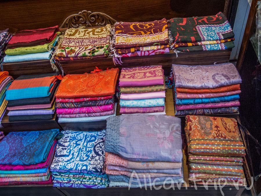 ткани на египетском рынке стамбула