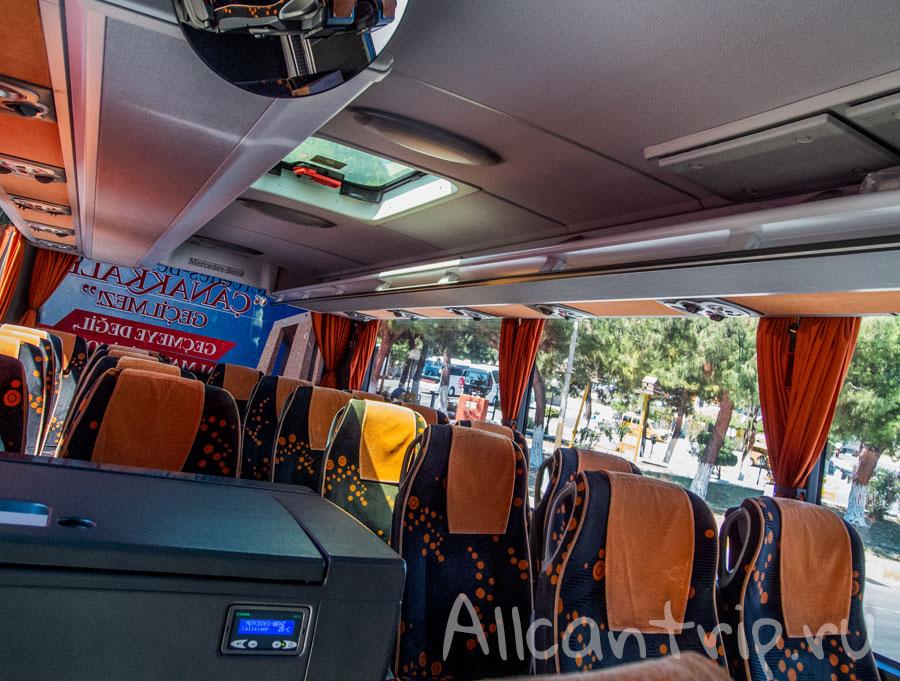 автобус из кушадасы в памуккале
