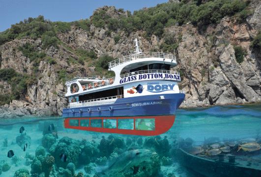 лодка со стеклянным дном мармарис