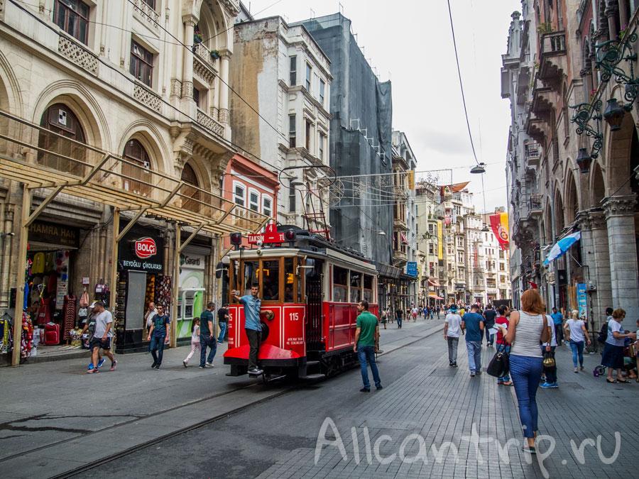 улица истикляль трамвайчик