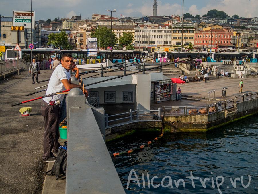 рыбалка на галатском мосту