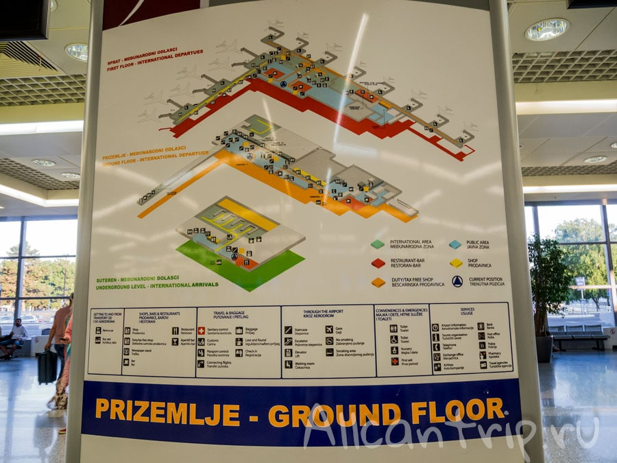 схема аэропорта Белграда
