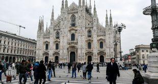 площадь Дуомо в Милане фото