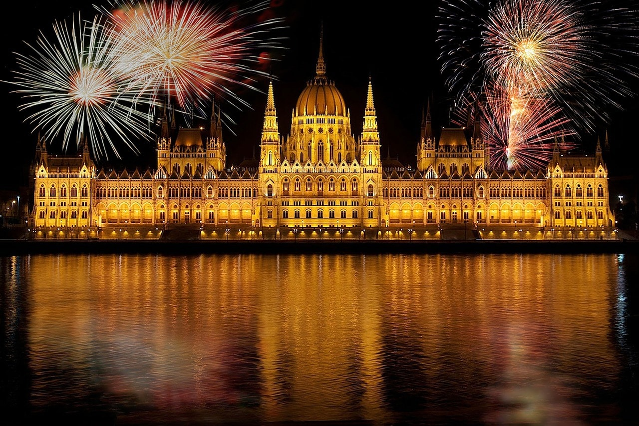 фейерверк Будапешт