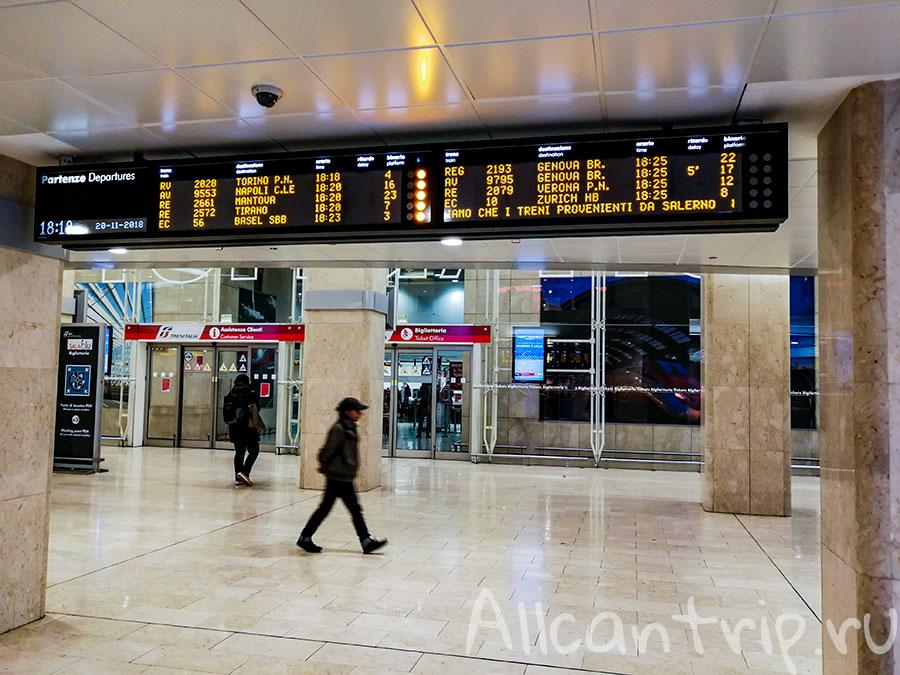 центральный вокзал в милане аэропорт
