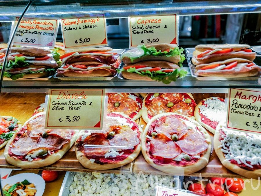 цены на еду во флоренции