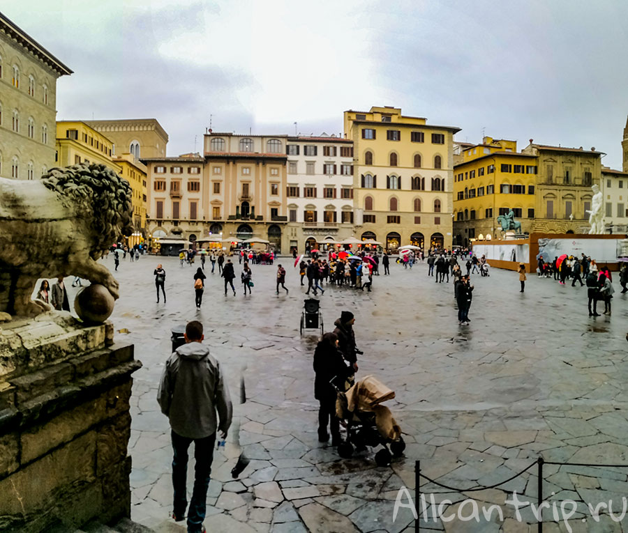 площадь Синьории во Флоренции фото
