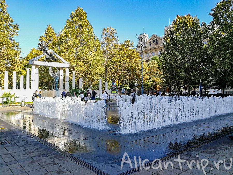 площадь свободы будапешт фонтан