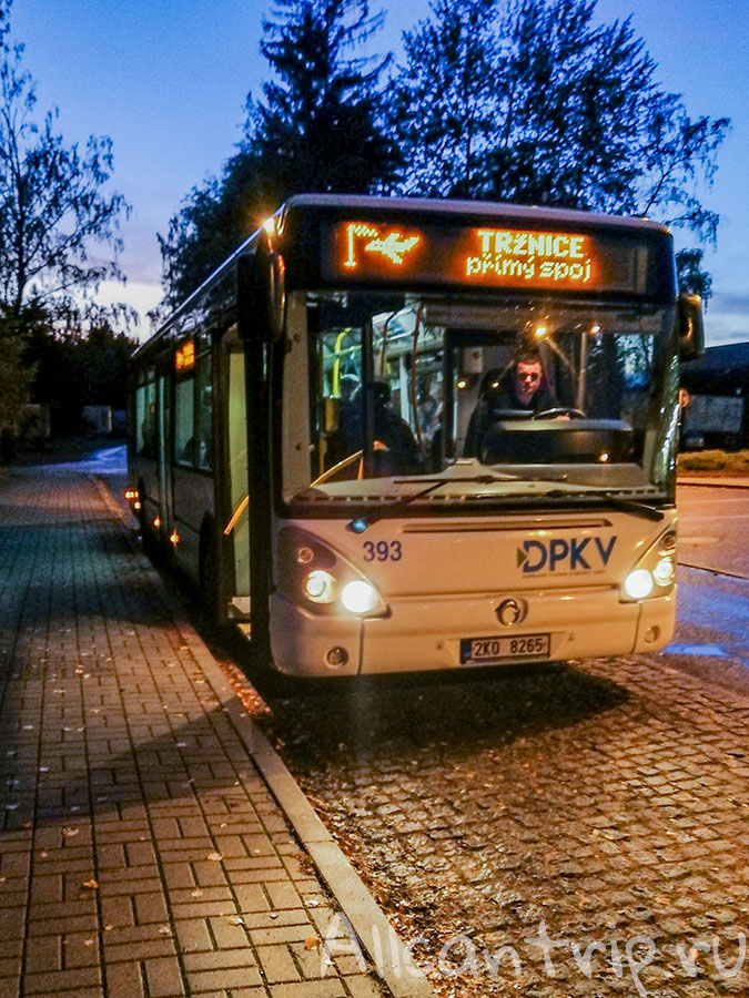 автобус из аэропорта карловы вары