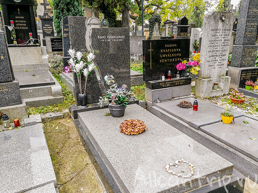 вышеградское кладбище прага