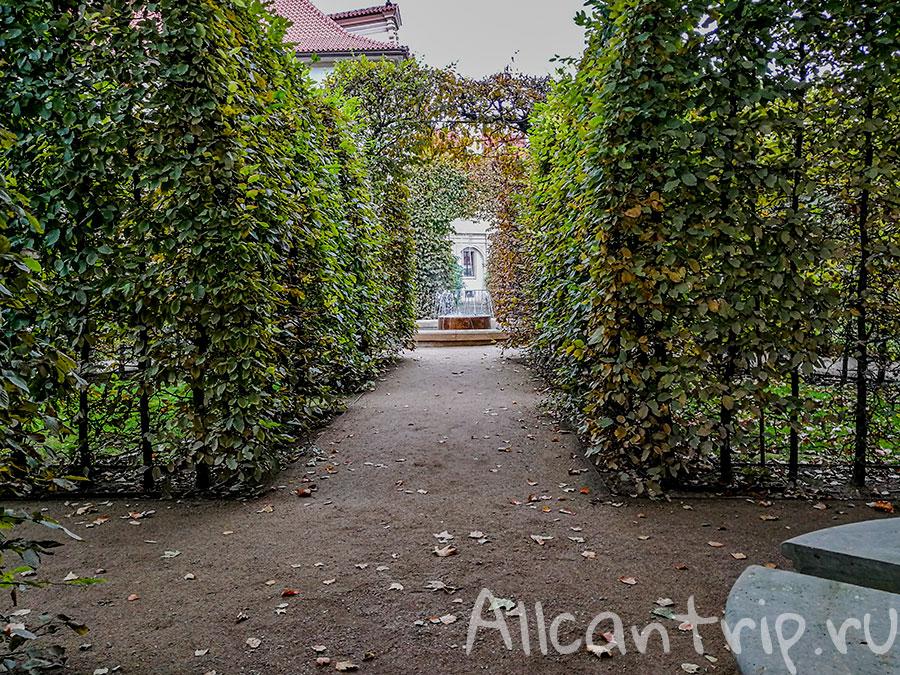 вальдштейнский сад как добраться